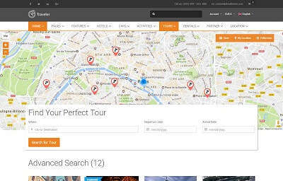 List Tours - Full Map